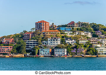 Exclusive homes along Sydney Harbor