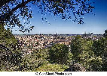 Toledo, Castilla la Mancha, Spain, general view of the city...