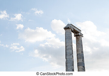 Apollon Temple View - View of Apollon Temple in Didyma...