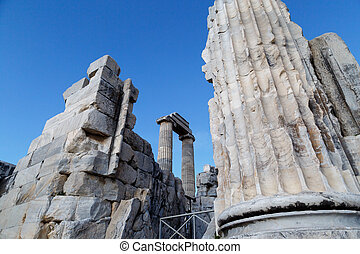 Didyma Ancient City - View of Didyma Ancient City in Turkey,...