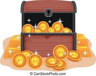 Treasure Chest - Vector Illustration of Treasure Chest