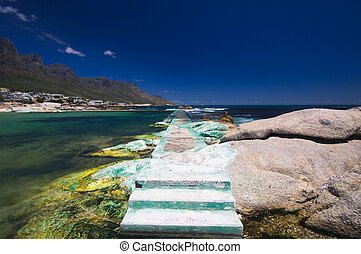 Camps Bay beach, Cape Town South Africa - Little bay near...