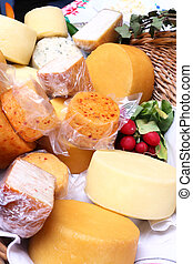 Cheese - Various species of cheese on local market
