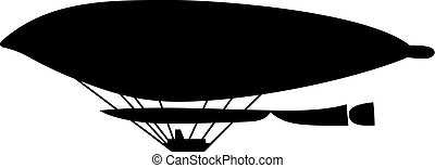 Old airship, shade picture