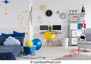 Make the room reflect your child's hobby - Shot of a...