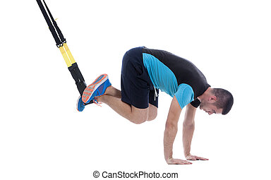 Functional exercises - Athletic trainer on functional loops...