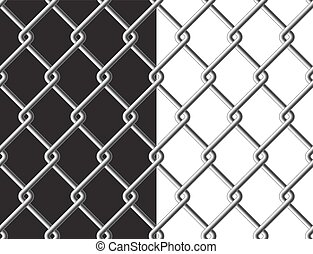Steel mesh metalic fance black and white background seamless texture
