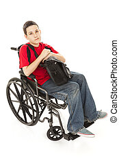 Disabled Teen Boy - Serious