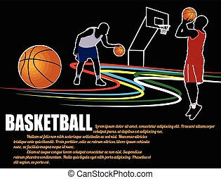 Basketball  poster background