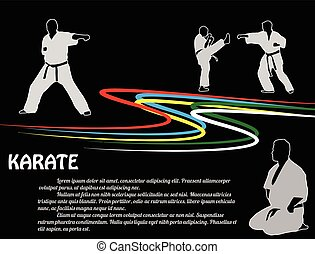 Karate poster background