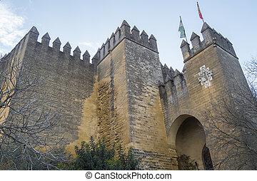 Almodovar, del, Rio, castelo, Cordoba, Espanha,