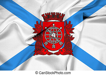 Waving Flag of Rio de Janeiro