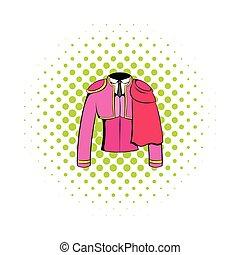 Spanish torero jacket icon, comics style - Spanish torero...