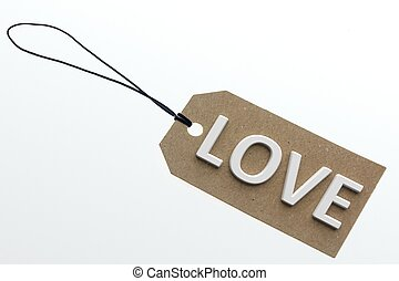 3D rendering LOVE word on paperboard - LOVE word on...