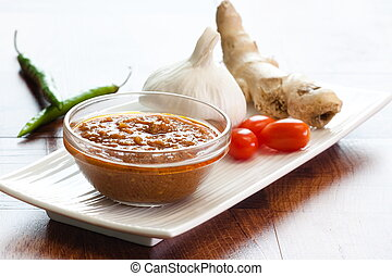 Indian Curry Sauce - Bowl of vegetable curry sauce and all...