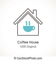 Coffee house - Vector illustration of a Coffee house