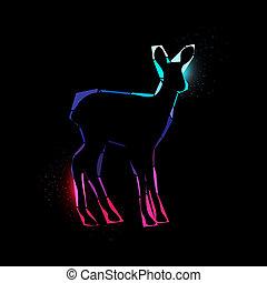 Space deer - Vector illustration of a Space deer