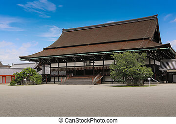 Guest house in Imperial house, Kyoto, Japan