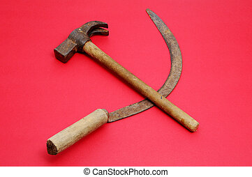 hammer and sickle - a respresentation of hammer and sickle...