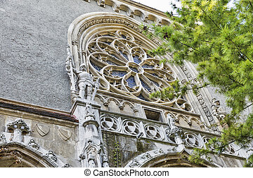 Castle of Vajdahunyad in Budapest, Hungary Beautiful stained...