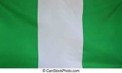 Flag of Nigeria in slow motion