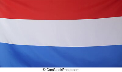 Netherlands flag in slow motion - Textile Netherlands flag...