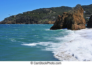 Cala Illa Roja beach in the Costa Brava, in Catalonia, Spain...