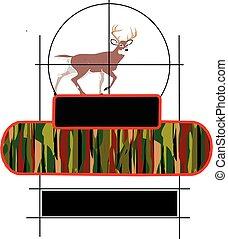 Buck Deer In Cross Hairs - Buck deer in cross hairs built...