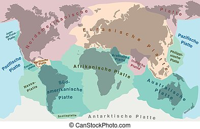 Continental Drift Tectonic Plates German - Tectonic plates...