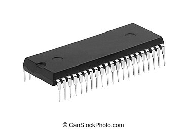 microchip - New microchip isolated on a white background