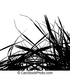 Straw silhouette for your design
