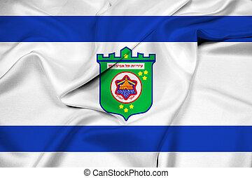 Waving Flag of Tel Aviv
