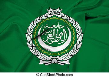 Waving Flag of the Arab League