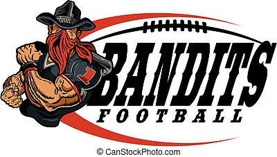 bandits football - muscular bandits football player team...