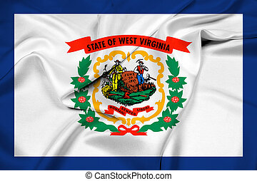 Waving Flag of West Virginia State
