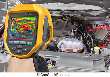 Recording Car Engine With Thermal Camera