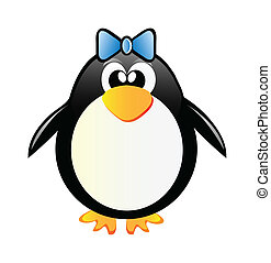 penguin girl - nice penguin girl isolated on white...