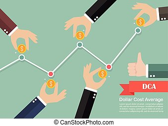 Dollar cost average investment concept Business metaphor