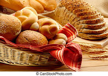 Baked foods - Arrangement of different kinds of baked foods