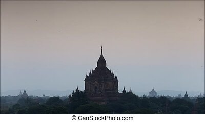 myanmar - View of old pagoda at morning in Bagan Myanmar