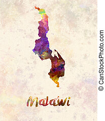 Malawi in watercolor