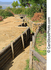 Gallipoli trenches - Trenches in Gallipoli Turkey used in...