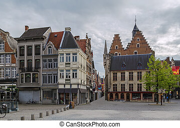 Grand Market Square Grote Markt, Mechelen, Belgium - view of...