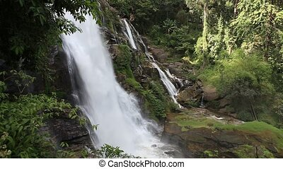waterfall - Big Waterfall Nature at Top mountain...