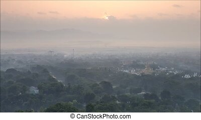myanmar - Top view in beautiful countryside in the morning...
