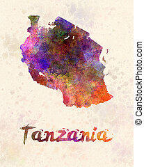Tanzania in watercolor
