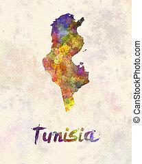 Tunisia in watercolor