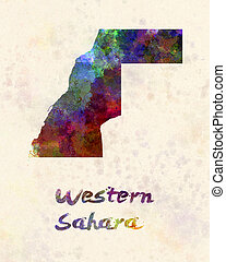 Western Sahara in watercolor