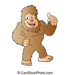 Bigfoot cartoon.vector illustration