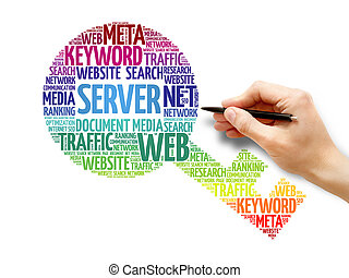 Server Key word cloud, business concept